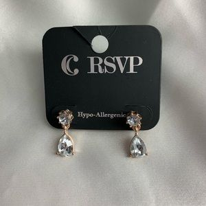 NEW-Charming Charlie rose gold and silver earrings